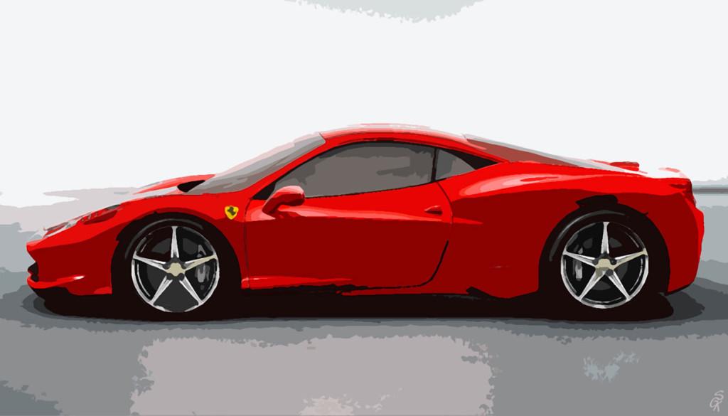 Ferrari-458-Italia_alu_aquarell